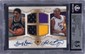 Basketball Cards:Singles (1980-Now), 2007-08 Ultimate Collection Matchups Autographs Bryant/Gervin #UM-BG BGS NM-MT+ 8.5, Auto 9 - #'d 02/25....