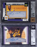 "Basketball Cards:Singles (1980-Now), 2004-05 UD Hardcourt Kobe Bryant ""Clear Commemoratives"" Autographs BGS-Graded Pair (2). ..."