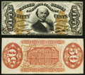 Fractional Currency:Third Issue, Fr. 1328SP 50¢ Third Issue Spinner Narrow Margin Specimen Pair. About New.. ... (Total: 2 notes)