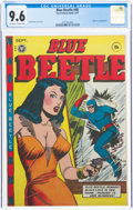 Golden Age (1938-1955):Superhero, Blue Beetle #48 (Fox Features Syndicate, 1947) CGC NM+ 9.6 Off-white to white pages....