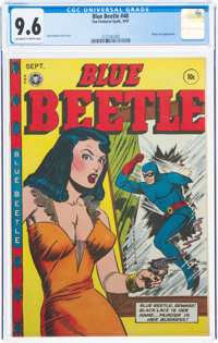 Blue Beetle #48 (Fox Features Syndicate, 1947) CGC NM+ 9.6 Off-white to white pages