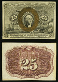 Fractional Currency:Second Issue, Fr. 1283SP 25¢ Second Issue Narrow Margin Specimen Pair Choice New.. ... (Total: 2 notes)