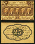 Fractional Currency:First Issue, Fr. 1282SP 25¢ First Issue Narrow Margin Specimen Pair Ch...