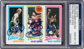 Autographs:Sports Cards, Signed 1980 Topps Bird/Erving/Johnson PSA/DNA Gem Mint 10 - Signed by All Three! ...