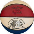 Basketball Collectibles:Balls, 1975-76 ABA (DeBusschere) Leather Game Basketball. ...