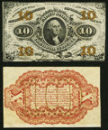 Fractional Currency:Third Issue, Fr. 1251SP 10¢ Third Issue Narrow Margin Specimen Pair Choice About New.. ... (Total: 2 notes)