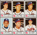 Baseball Cards:Sets, 1953 Johnston Cookies Milwaukee Braves Complete Set (25) Plus Extras (13). ...
