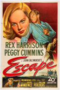 "Memorabilia:Movie-Related, Escape Movie Poster One Sheet (27"" X 41"") (20th Century Fox, 1948)...."