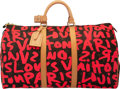 """Luxury Accessories:Travel/Trunks, Louis Vuitton x Stephen Sprouse Limited Edition """"Graffiti"""" Monogram Coated Canvas Keepall Bandouliere 50 . Condition: 3..."""