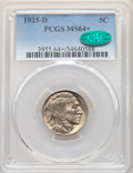 1925-D 5C MS64+ PCGS. CAC. PCGS Population: (402/153 and 14/24+). NGC Census: (249/63 and 2/1+). CDN: $1,050 Whsle. Bid...