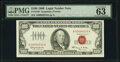 Small Size:Legal Tender Notes, Low Serial Number 4010 Fr. 1550 $100 1966 Legal Tender Note. PMG Choice Uncirculated 63 EPQ.. ...