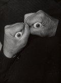 Photographs, Robert Doisneau (French, 1912-1994). Hands with Artificial Eyes, circa 1950. Gelatin silver. 9-1/2 x 7 inches (24.1 x 17...