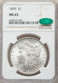 Morgan Dollars, 1899 $1 MS65 NGC. CAC. NGC Census: (633/86). PCGS Population: (1561/366). CDN: $600 Whsle. Bid for NGC/PCGS MS65. Mintage 3...