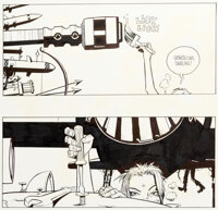 Jamie Hewlett Tank Girl : The Movie Storyboards Groupe de 5 (United Artists, 1995).... (Total: 5 Original Art)