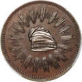 1836 Medal First Steam Coinage, Mar. 23 Over Feb. 22, Thick Planchet, Bronzed Copper, Julian-MT-21, SP65 PCGS