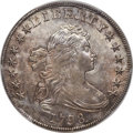 Early Dollars, 1798 $1 Large Eagle, Pointed 9, Wide Date, B-15, BB-112, R.3, MS62 PCGS....