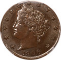 1906 5C Liberty Nickel -- Struck on a Cent Planchet -- MS63 Brown PCGS