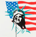 Paintings, Pure Evil (b. 1968). America's Nightmare - Stars and Stripes, early 21st century. Acrylic and spray paint on canvas. 39 ...