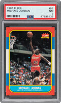 Basketball Cards:Singles (1980-Now), 1986 Fleer Michael Jordan #57 PSA NM 7....