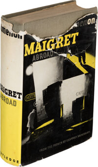 """Georges Simenon. Maigret Abroad. London: [1940]. First edition in English, with """"special presen"""