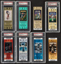 Football Collectibles:Tickets, 2000s Super Bowl Full Ticket, Lot of 8.... (Total: 8 items)