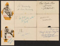 Autographs:Post Cards, Early Basketball Legends Signed Post Cards, Lot of 8....
