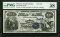 National Bank Notes:North Carolina, Winston, NC - $10 1882 Date Back Fr. 545 Wachovia National Bank Ch. # (S)2425 PMG Choice About Unc 58.. ...