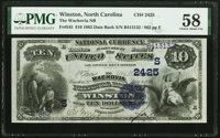 Winston, NC - $10 1882 Date Back Fr. 545 Wachovia National Bank Ch. # (S)2425 PMG Choice About Unc 58.<