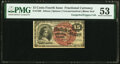 Fr. 1268 15¢ Fourth Issue PMG About Uncirculated 53