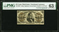 Fractional Currency:Third Issue, Fr. 1295 25¢ Third Issue PMG Choice Uncirculated 63 EPQ.. ...