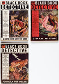 Pulps:Detective, Black Book Detective Group of 3 (Better Publications, 1936) Condition: Average VG+.... (Total: 3 Items)