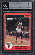 """Basketball Cards:Singles (1980-Now), 1986 Star Co. Michael Jordan """"1985 Rookie-of-The-Year"""" #6 BGS Mint 9. ..."""