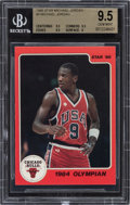 "Basketball Cards:Singles (1980-Now), 1986 Star Co. Michael Jordan ""1984 Olympian"" #3 BGS Gem Mint 9.5. ..."