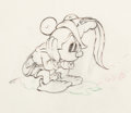 Animation Art:Production Drawing, Brave Little Tailor Mickey Mouse Dessin d'Animation (Walt Disney, 1938). ...