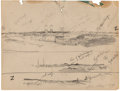 Works on Paper, Julian Onderdonk (American, 1882-1922). Sketch from Nature, 1914. Pencil on paper. 8 x 10-3/8 inches (20.3 x 26.4 cm). D...