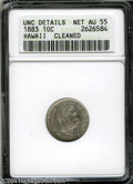 Coins of Hawaii: , 1883 10C Hawaii Ten Cents--Cleaned--ANACS. Unc. Details, ...