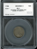 Additional Certified Coins: , 1796 Dime 10C Poor 1 SEGS. The surfaces are too worn to ...
