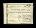 Colonial Notes:Georgia, Georgia 1776 $1/4 About New....