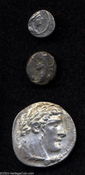 Ancients:Greek, Ancients: Phoenicia, Tyre. 126/5 B.C.-A.D. 65/6. AR shekel (29 mm,14.33 g). Year 51 (76/5 B.C.). Laureate bust of Melqart right,wear... (Total: 3 coins Item)