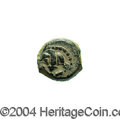 Ancients:Judaea, Ancients: Judaea. Hasmonean. John Hyrcanus I (Yehohanan). 135-104B.C.E. AE lepton (10 mm, 1.05 g). 'Yehohanan the High Priest andCou...