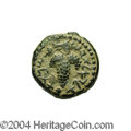 Ancients:Judaea, Ancients: Judaea, Bar Kochba Revolt. Year 1 (132/3 C.E.). AE 18 mm (8.32 g). 'Year one of the redemption of Israel', grape bunch with ...