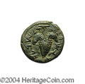 Ancients:Judaea, Ancients: Judaea, Bar Kochba Revolt. Year 2 (133/4 C.E.). AE 18 mm(4.92 g). 'Year two of the freedom of Israel', grape bunch withbra...