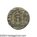 Ancients:Judaea, Ancients: Judaea, Bar Kochba Revolt. Undated coin attributed to year 3 (134-135 C.E.). AR sela (27 mm, 14.63 g). 'Shi'mon', tetrastyle...