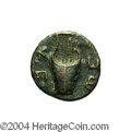 Ancients:Judaea, Ancients: Judaea, Bar Kochba Revolt. Undated coin attributed toyear 3 (134-135 C.E.). AE 20 mm (5.44 g). 'For the freedom ofJerusale...