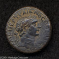 Ancients:Roman, Ancients: Phoenicia, Dora. Trajan. 98-117 C.E. AE 25 mm (12.82 g).Year 175 (111/2 C.E.). Laureate bust right, slight drapery on left...