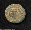 Ancients:Roman, Ancients: Phoenicia, Ake-Ptolemais. Julia Domna, wife of SeptimiusSeverus. AE 21 mm (6.76 g). Draped bust right / Tyche seated right...