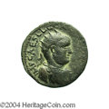 Ancients:Roman, Ancients: Phoenicia, Ake-Ptolemais. Valerian I. 253-260 C.E. AE 27mm (15.52 g). Radiate, draped and cuirassed bust right / Sacredtre...