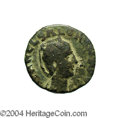 Ancients:Roman, Ancients: Phoenicia, Ake-Ptolemais. Salonina, wife of Gallienus. AE25 mm (16.48 g). Diademed and draped bust right / Artemisadvancin...