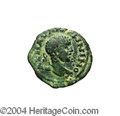 Ancients:Roman, Ancients: Syria, Decapolis. Charach Moba. Elagabalus. 218-222 C.E.AE 20 mm (5.77 g). Laureate head right / Altar of Dusaresapproache...