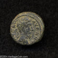 Ancients:Roman, Ancients: Syria, Decapolis. Gerasa. Marcus Aurelius. 161-180 C.E.AE 19 mm (7.06 g). Laureate head right / Tyche seated left onrocks,...